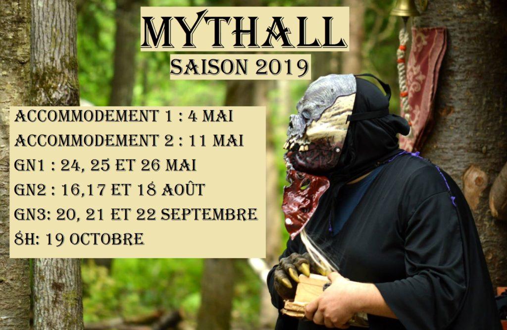 Mythall dates